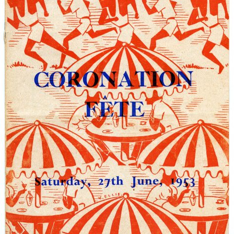 Poster promoting a Coronation Fete | Image courtesy of University of Westminster Archives