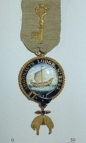 Masonic founders medal for Argonauts Lodge No 2243, a masonic lodge formed in London in 1888 for amateur rowers | Argonauts Lodge No 2243