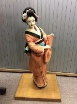Geisha doll on wooden plinth | Centre for Buckinghamshire Studies