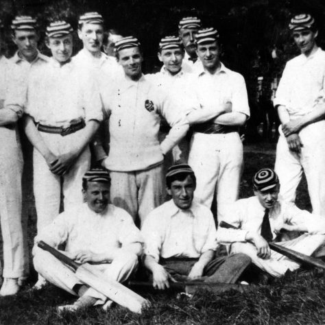 Black and white Photograph of the Stamford House Cricket Club, c.1919 | Sainsbury Archive