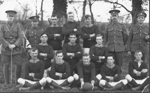 No. 16 Platoon football Team [20th Century]. | Image courtesy of Anglesey Archives