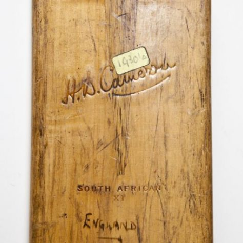 Signed by the 1935 test match teams. | Image courtesy of Wakefield Museum