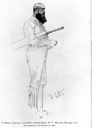 W.G. Grace in his prime. | Image courtesy of Wellcome Images