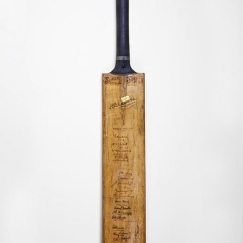 WM Sykes cricket bat. | Image courtesy of Wakefield Museum