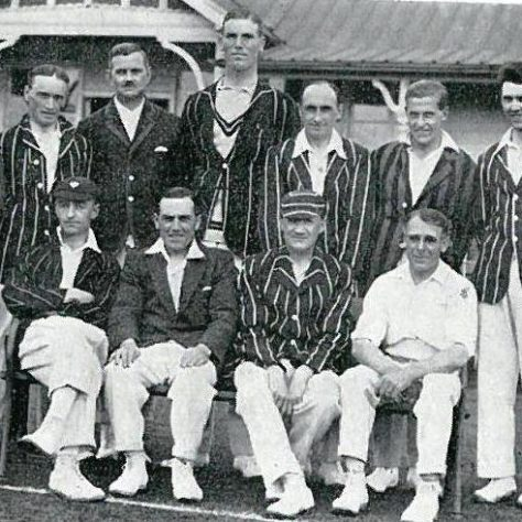 Black and white cricket team photo | Image courtesy of Stirling Archives.