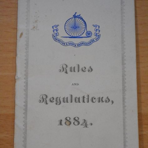 Rules and regulations of South Warwickshire and Leamington Club.   Warwickshire County Record Office reference CR1844/10