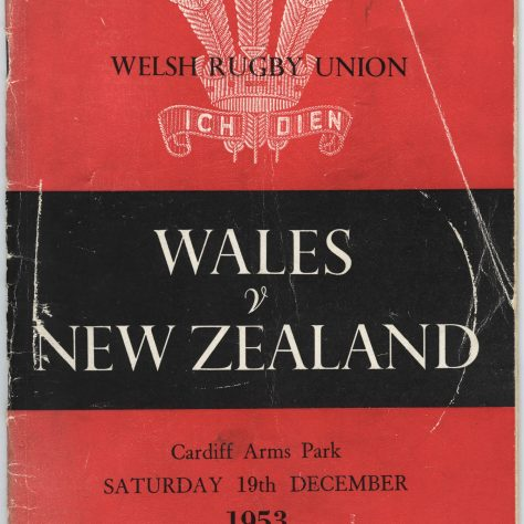 Wales v New Zealand, 1953 programme. | Image courtesy of Glamorgan Archives