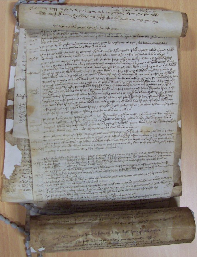 Manorial Roll, Courts from 7 to 8 Henry V (1419-1420), Atherstone. | Warwickshire County Record Office reference MR13/13.