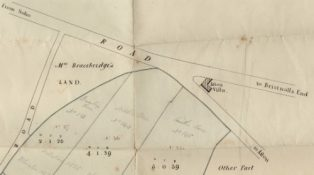 Plan of lands at Villa Cross, 1818. | Courtesy of Birmingham Archives and Collections, reference DV 689/458128