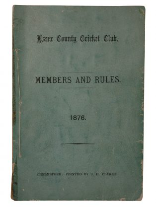 The first list of rules and members of Essex County Cricket Club, 1876. | Originally published on the Essex Record Office blog.
