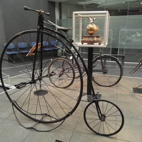 1870s Penny Farthing, ridden by Britain's first cycling Olympic winner Tom Sabin. | Image courtesy of G Scott