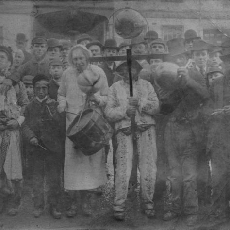 Shrove Tuesday Pre Parade, Dorking. | Image courtesy of Dorking Museum