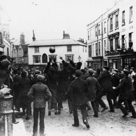 Shrove Tuesday football, Dorking. | Image courtesy of Dorking Museum