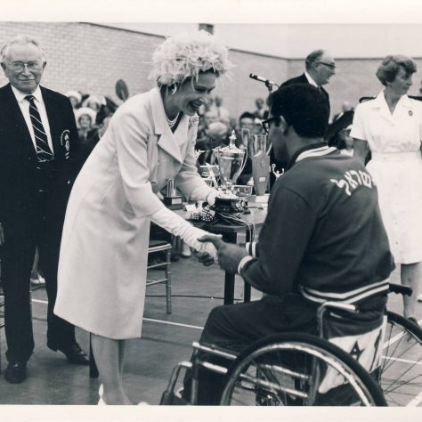 The Queen at Stoke Mandeville Stadium 1969 | Image courtesy of the National Paralympic Heritage Trust