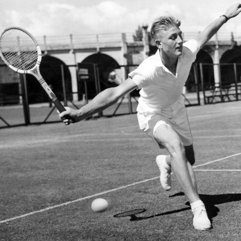 Tennis player Lewis Hoad at age 15. | Len Drummond - State Library of Victoria