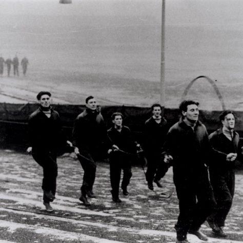 Gateshead Football Team training session Redheugh Park c.1945-50 | Newcastle Libraries