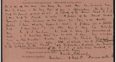 A handwritten letter | National Archives catalogue reference: MH 47/94/23. Reproduced under the Open Government License