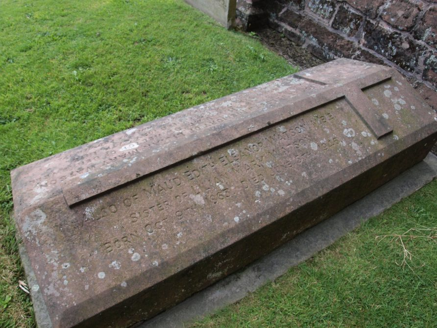 The grave of Maud Watson, buried with her parents at Berkswell.   Image courtesy of Caroline Irwin