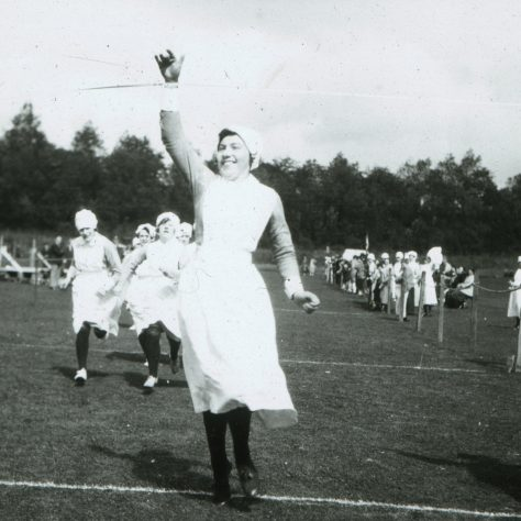 Nurses' Race, Gartloch Sports Day 1928 (HB1/9/1337) | Image courtesy of NHS Greater Glasgow and Clyde Archives