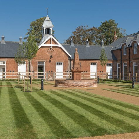 Rothschild Yard lawn   Image courtesy of the National Heritage Centre for Horseracing and Sporting Art