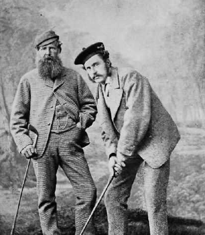 Old Tom Morris, Young Tom Morris, around 1870-1875 | Thomas Rodger - Golf, official USGA Bulletin, Juli 1902, page 17 / Wikimedia Commons