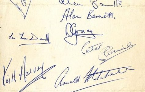 1964 Exeter City Squad Signatures