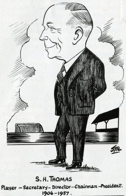 A caricature of Sid Thomas. | Image courtesy of the Grecian Archive