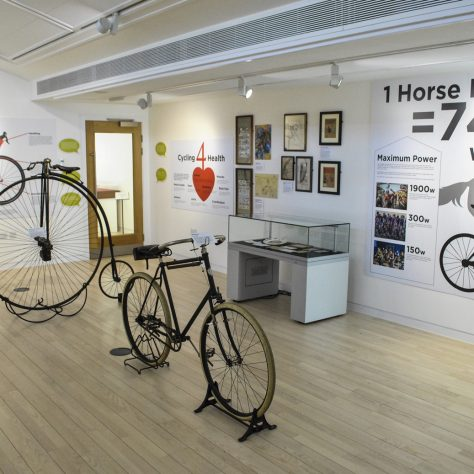 On Your Bike Exhibition. | Image courtesy of National Heritage Centre for Horseracing & Sporting Art