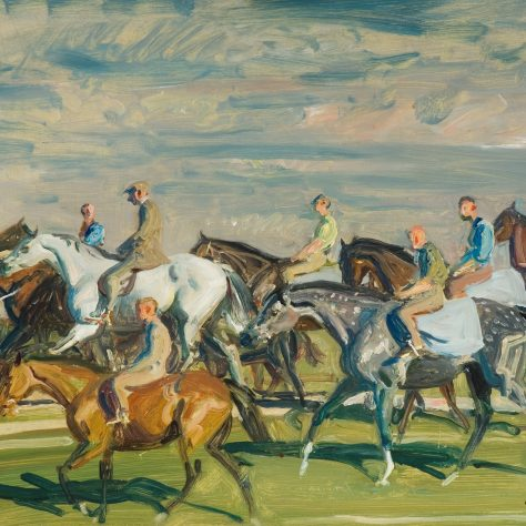 Exercising the Horses. | © Estate of Sir Alfred Munnings