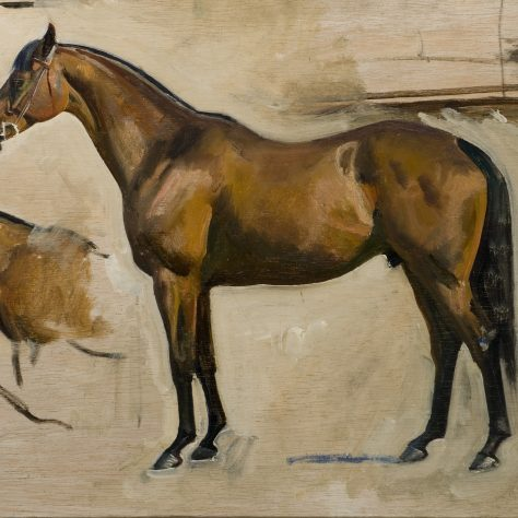 Oil painting of two horses | © Estate of Sir Alfred Munnings