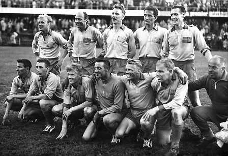 Swedish squad at the 1958 FIFA World Cup. | Originally uploaded to Wikipedia.