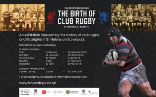 The Birth of Club Rugby: the history and heritage of Liverpool St Helens exhibition poster