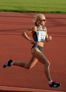 Jenny Meadows running on a track | Courtesy of Jenny Meadows