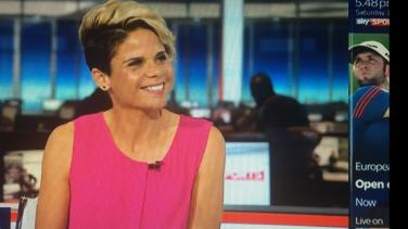 Sue Smith appearing on Sky Sports News | Sue Smith / Sky Sports News