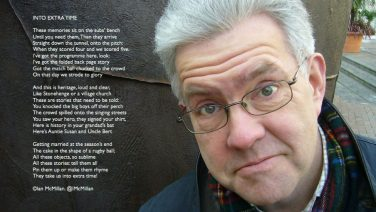 'Into Extra Time' poem written for National Sporting Heritage Day 2018. Background photo of Ian McMillan. | Ian McMillan / Photo Adrian Mealing