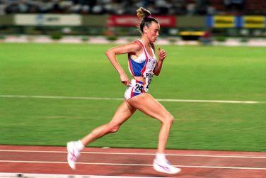 Elizabeth McColgan-Nuttall MBE Running on a track | Courtesy of Elizabeth McColgan-Nuttall MBE