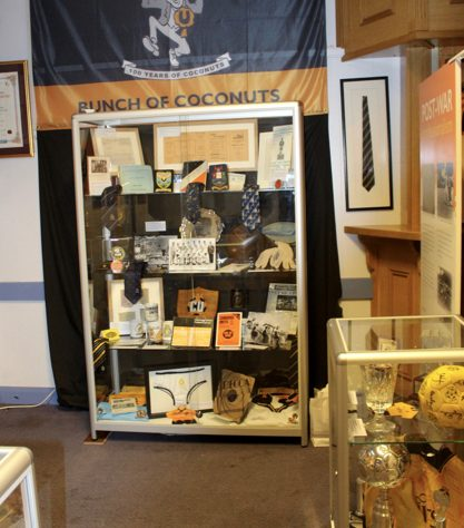 Various items in a display cabinet at The Story of the U's museum | The Story of the U's