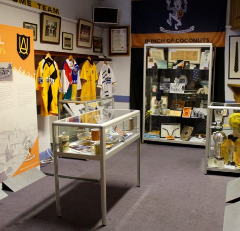 Various items in display cabinets at The Story of the U's museum | The Story of the U's