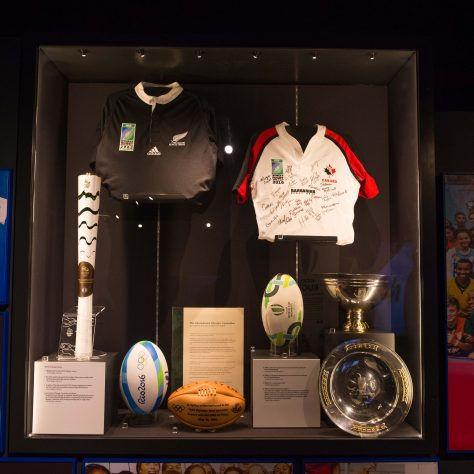 Items on display in the Rugby Hall of Fame | The Rugby Town