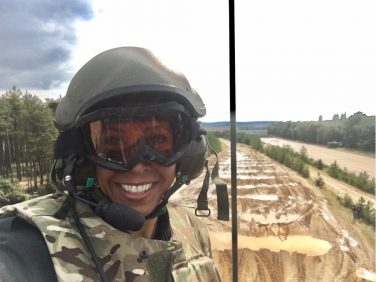Kelly Holmes in Armed Forces | Courtesy of Dame Kelly Holmes DBE