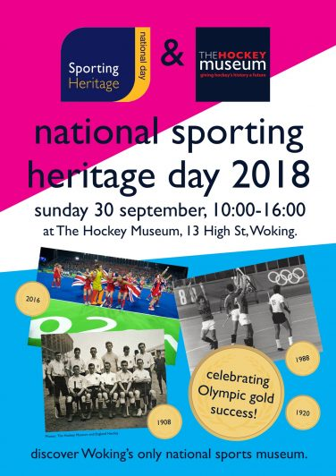 Poster promoting National Sporting Heritage Day with The Hockey Museum   The Hockey Museum
