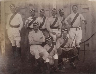 Sepia photo of the Armed Forces Polo team | Courtesy of Green Howards Museum