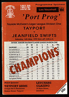 Programme cover,  no.4 1991/92 | Programme cover from www.tayportfcarchive.com
