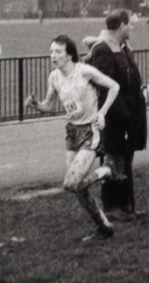 Derek Peaple running along a muddy track | Courtesy of Derek Peaple