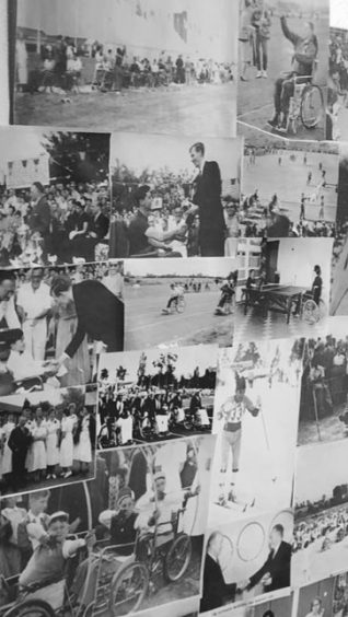 Collage of black and white photographs | National Paralympic Heritage Trust