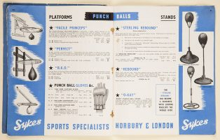 Boxing equipment advertised in a Skykes catalogue from the museum collection. | Courtesy of Wakefield Libraries