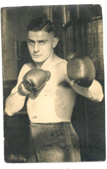 Black and white photo of boxer William 'George' Dilks. | Courtesy of Wakefield Libraries