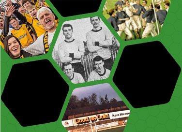 collage of images displayed in hexagons on a green backing | Maidstone Museum