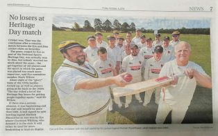 Diss Express cover our NSHD2019 celebration | Courtesy of Eye & District Cricket Club