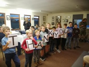 EDCC Kids give thanks | Courtesy of Eye & District Cricket Club